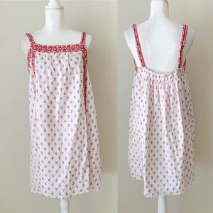 Old Navy red and white shift dress